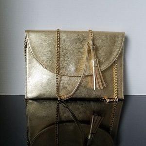Mudpie Gold Crossbody Purse Handbag Like New